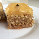 baklava, with walnuts and almonds