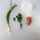Kleftiko lamb, with yoghurt and herbs