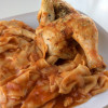 Paprika roast chicken with very special pasta