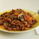 Beans, carrots and mushroom stew
