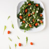 Spinach salad with taramasalata dressing