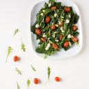 Spinach salad with taramasalata dressing