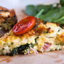 Baked omelette with siglino and spinach