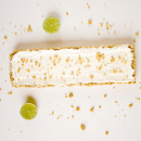 Lime and almond cheesecake