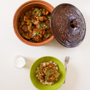 lamb tagine with almonds and apricots