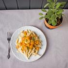 Pumpkin, brie and sage pasta