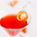 Campari and sanguini jelly