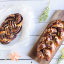 Chocolate tsoureki, 2 ways