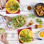 Μεξικάνικη σαλάτα με κοτόπουλο και μανγκο, μαγειρεύοντας με την Old El Paso