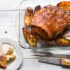 Bone in pork shoulder with paprika and lemon and balsamic roasted fennel
