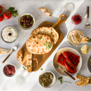 On meze: quick onion pickles and Greek pita breads