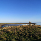 A Refreshing smoothie for the new year and the castle of Lindisfarne