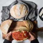 Sourdough starter and a sourdough bread