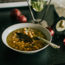Chickpea soup, a recipe from Sweden