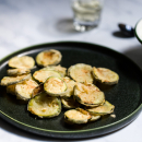 Fried courgettes with tzatziki