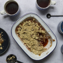 Apple and red currant crumble