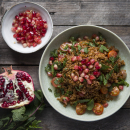 Bulgur wheat salad with pomegranate molasses