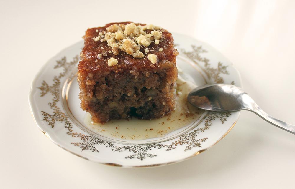 Walnut cake, the Greek way – karidopita - Eat Yourself Greek